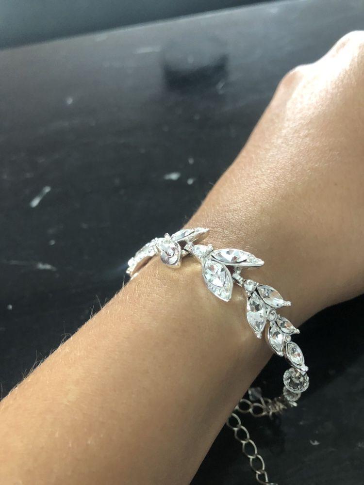 Biżuteria ślubna kolczyki bransoletka