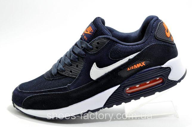 Кроссовки мужские Nike Air Max 90, Синий, купить со скидкой