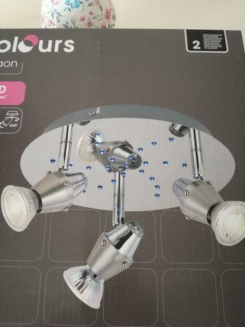 Plafon LED  3 x GU 10 chrom