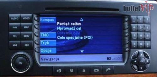 Mercedes Polskie Menu Mapa Europy W211 CLS ML GL GLK A B C E R Crafter