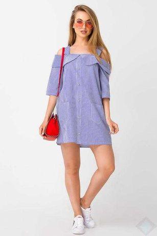 Стильное платье-сарафан  из натуральной ткани