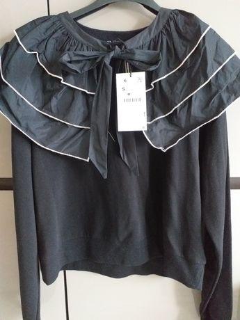 Zara nowa bluza S z kolnierzem
