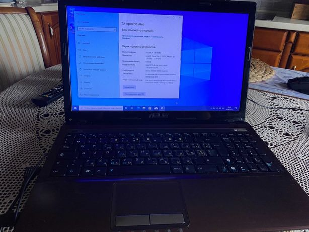 Игровой ноутбук i7 8ядер Asus x53s