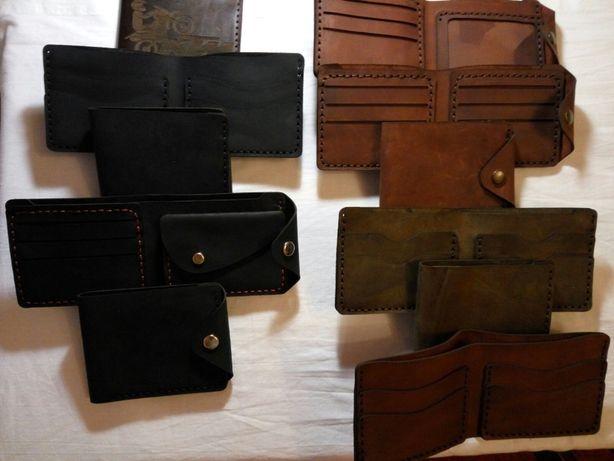Продам кошельки мужские кожаные (ручная работа), визитницы, зажимы