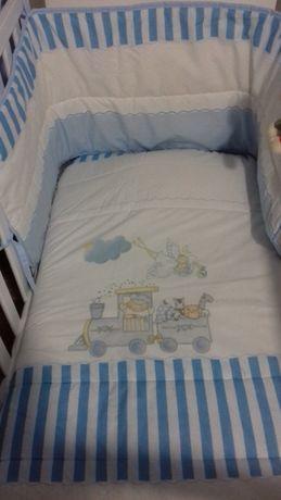 Edredão+resguardo cama de bebé Azul