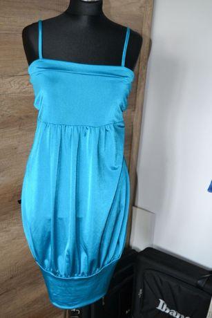 Sukienka mega połysk śliska lycra