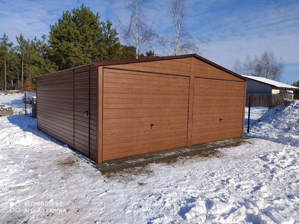 Garaż Blaszany Drewnopodobny 6x5 Producent !