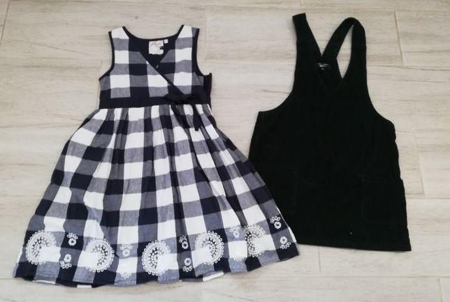 dwie sukienki wiek 10-11 lat