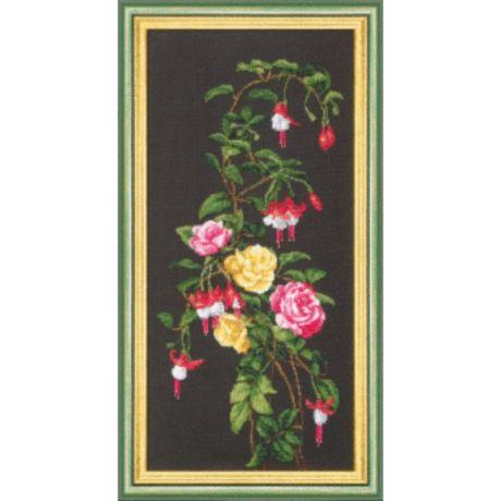 набор для вышивки бисером розы фуксия б 061