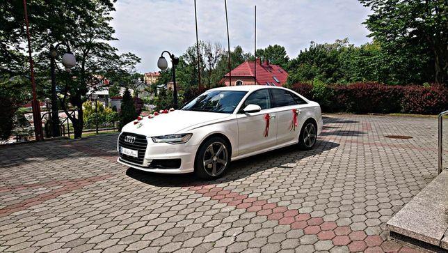 Białe Audi do ślubu