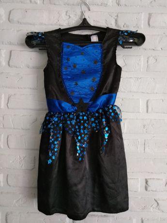Платье ведьмы, костюм на хэллоуин, ведьмочки 4-6 лет, рост 110-122 см