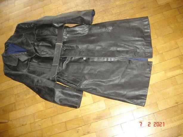 płaszcz skórzany prl