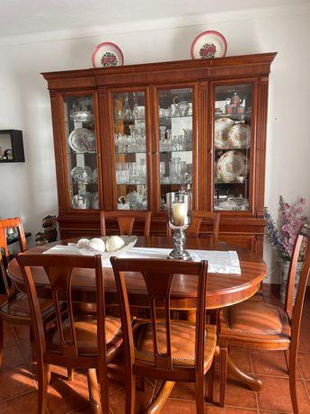 Conjunto de sala de estar de madeira maciça