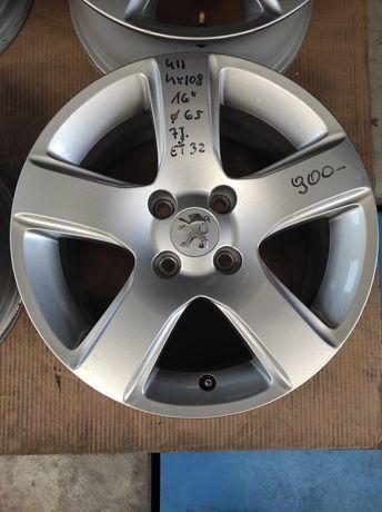 411 Felgi aluminiowe PEUGEOT R16 4x108 otwór 65 Bardzo Ładne