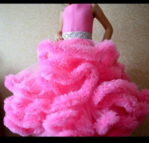 Платье прокат/аренда облако нарядное для девочки