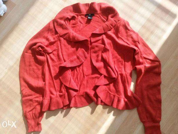 Sweter bolerko H&M w kolorze czerwonym malinowym rozm. M -  NOWY