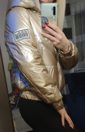 Złota kurtka xs-s