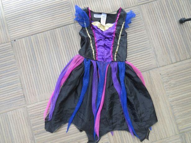 Strój karnawał sukienka przebierańce halloween 5-6 lat, rozm 116