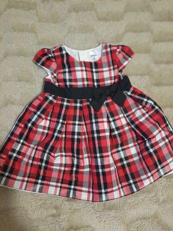 Детское нарядное платье в клетку фирмы carters