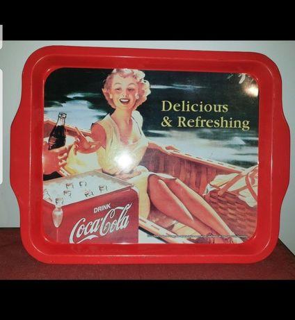Tabuleiro Coca-Cola vintage anos 70