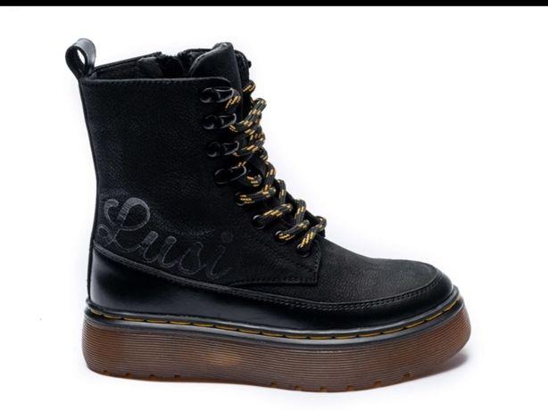 Зимние ботинки для девочки натуральная кожа  с 32 по 35 размеры Zangak