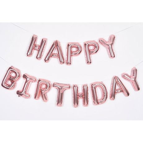 """Фольгированные буквы """"Happy Birthday"""""""