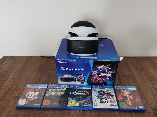 Okulary VR,5 gier Playstation 4