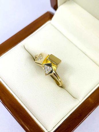 Zloty pierścionek pr.585 14k - PLUS Lombard