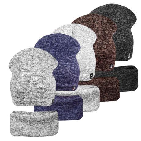 Комплект на флисе шапка с хомутом Кэжуал малышам ог.48-52см