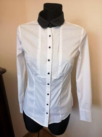 Biała koszula damska elegancka na święta świąteczna 36 S mohito