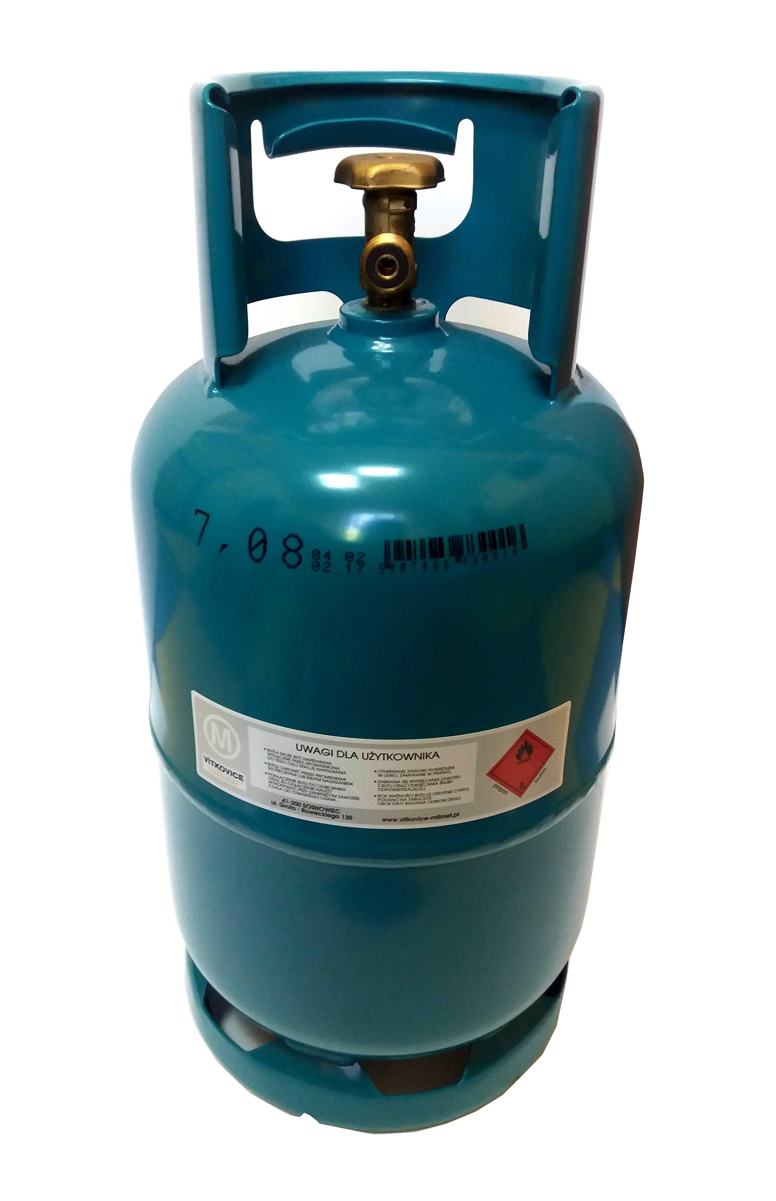 Butla gazowa na gaz propan butan 5 kg kuchenka piec grill duży zawór