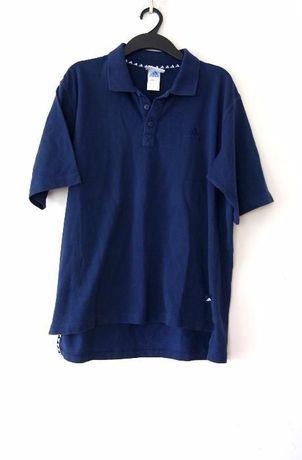 granatowe polo t-shirt koszulka meska bluzka adidas granatowy 40 XL 42