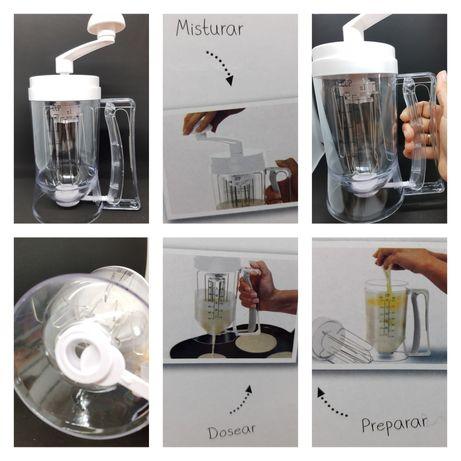 Máquina manual Dispenser doseador para panqueca, queques, omeletes, wa