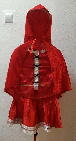 Strój Czerwony Kapturek 4-7 lat, 104-122 cm