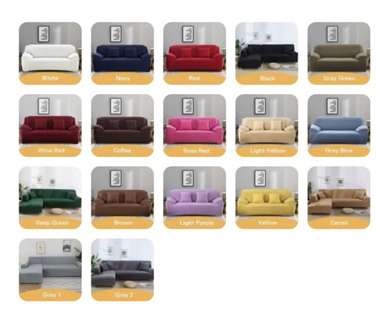 Capa sofa varias cores disponiveis NOVO - FEEDBACK ULTIMA FOTO