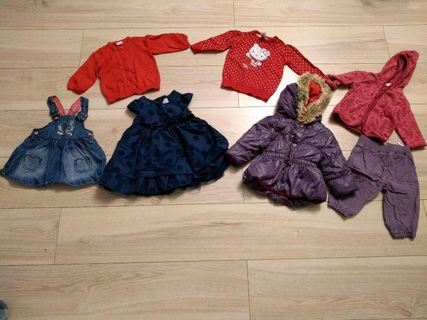 Zestaw next h&m 62 2 3 4 MSC kurtka polar sukienka święta sweterek