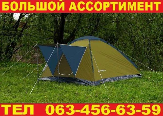 Палатка намет 4-х местная двухслойная. Производство Польша. Качество