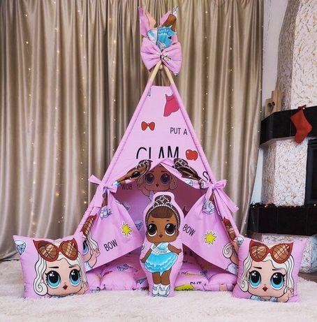 Вигвам домик для девочки с куклами ЛОЛ Гламур БОН БОН Полный комплект