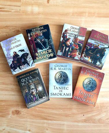 """GRA O TRON- używane książki saga """"Pieśni Lodu i Ognia"""""""