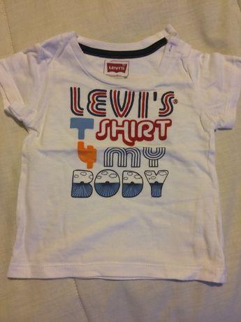 Conjunto calção e t-shirt levis 6 meses