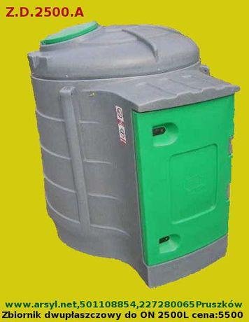 Zbiornik dwupłaszczowy do paliwa ON CPN Pojemnik na paliwo ON