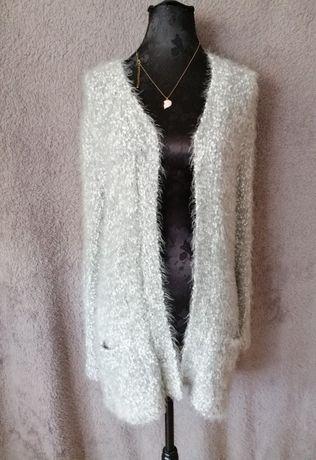 Szaro biały sweter House XS/S narzutka