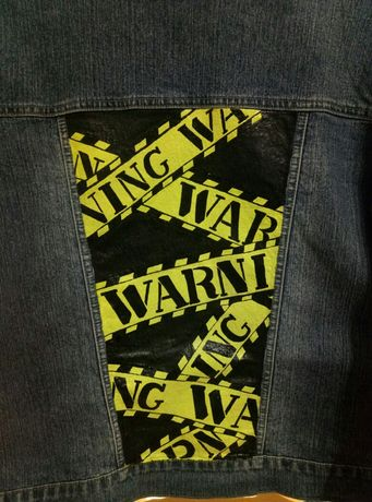 Джинсовая куртка (джинсовка) с рисунком ручной работы