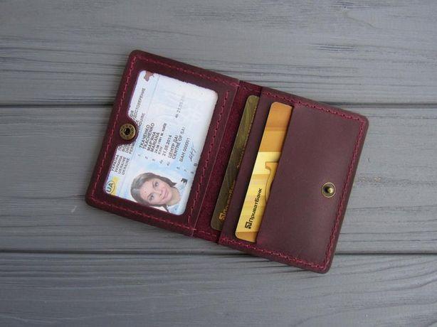 Кожаная обложка на права обложка на id паспорт + подарок