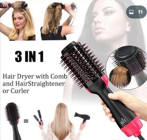 Фен Щетка для Волос One Step Hair Dryer and Styler 3 в 1.