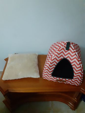 Cama iglô para cães anão ou gato