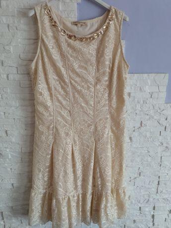 Sukienka kremowa koronka r.L