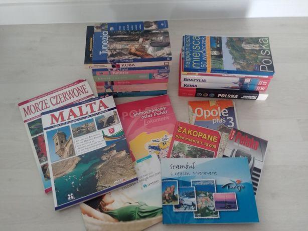 Książki podróżnicze przewodniki w zestawie lub na sztuki