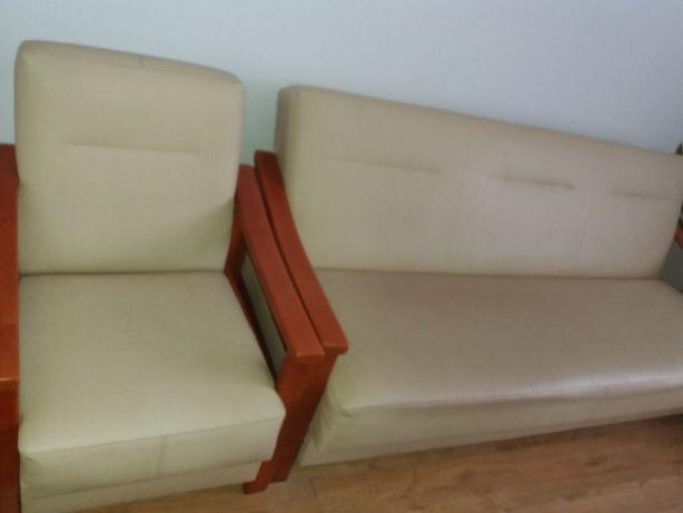 Łóżko + 2 fotele