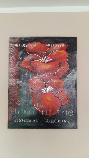 Obraz na płótnie - czerwone kwiaty